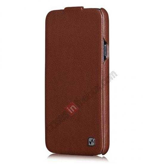 best price HOCO Duke Advanced Genuine Leather Case Cover For Samsung Galaxy S5 - Brown
