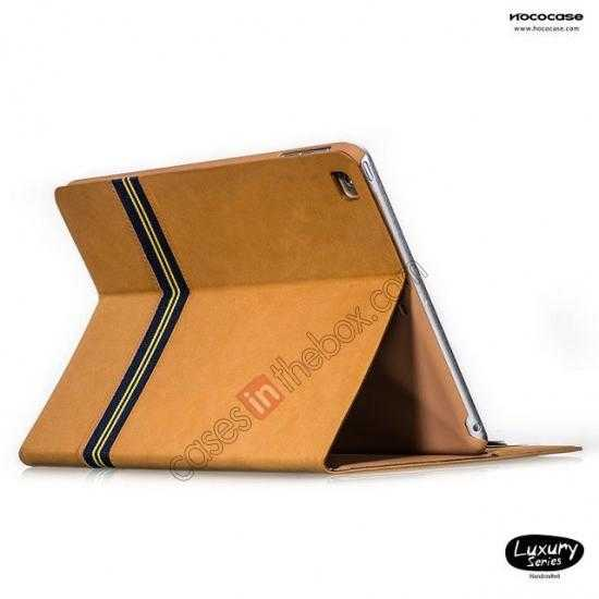 wholesale HOCO Luxury Series Genuine Leather Stand Case for iPad Air