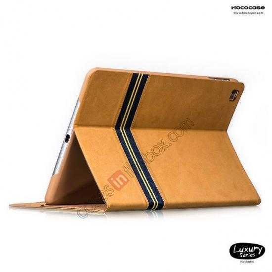 top quality HOCO Luxury Series Genuine Leather Stand Case for iPad Air