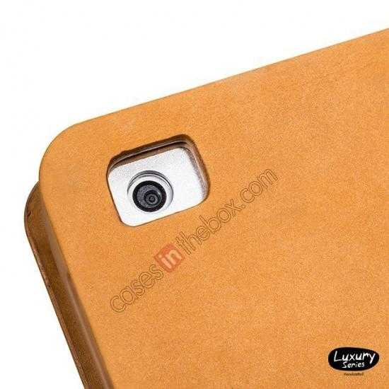 low price HOCO Luxury Series Genuine Leather Stand Case for iPad Air