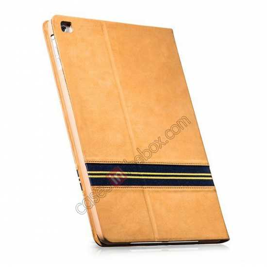 china wholesale HOCO Luxury Series Genuine Leather Stand Case for iPad Air