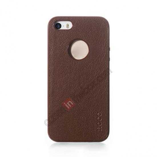 discount HOCO Paris Luxury Leather Back Cover Case For iPhone 5 5S - Brown