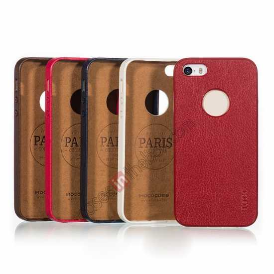 best price HOCO Paris Luxury Leather Back Cover Case For iPhone 5 5S - Brown