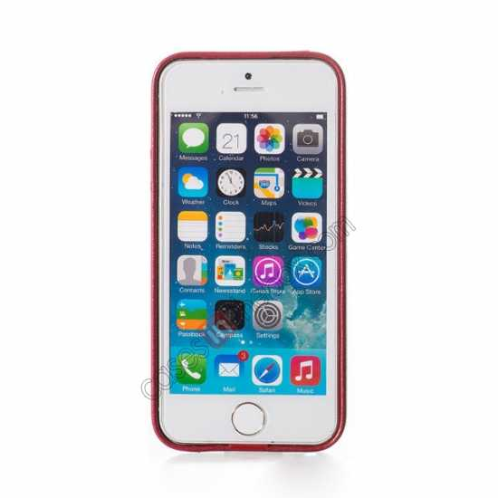 top quality HOCO Paris Luxury Leather Back Cover Case For iPhone 5 5S - Red
