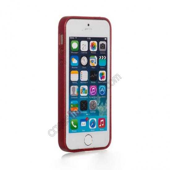 best price HOCO Paris Luxury Leather Back Cover Case For iPhone 5 5S - Red