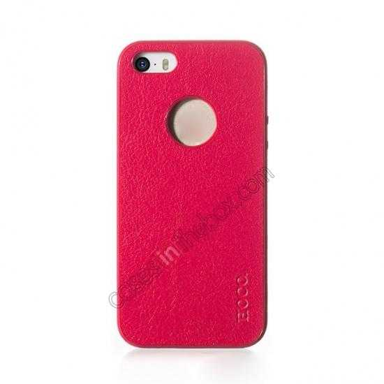 discount HOCO Paris Luxury Leather Back Cover Case For iPhone 5 5S - Rose