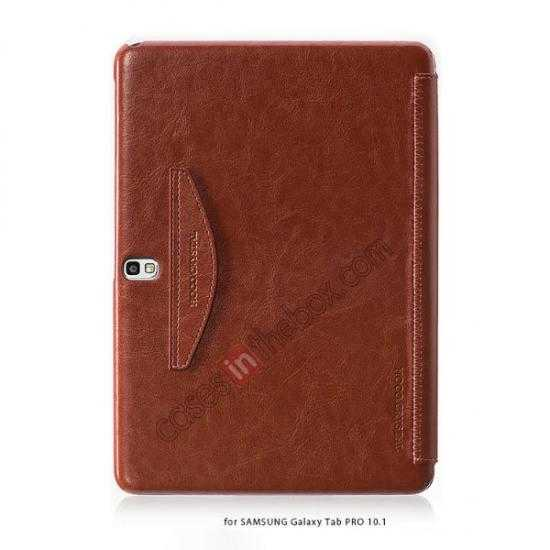 discount HOCO Retro Crystal Folder Leather Flip Case for Samsung Galaxy Tab Pro 10.1 T520 - Brown