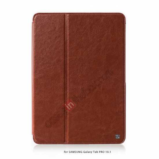 wholesale HOCO Retro Crystal Folder Leather Flip Case for Samsung Galaxy Tab Pro 10.1 T520 - Brown
