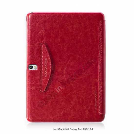 discount HOCO Retro Crystal Folder Leather Flip Case for Samsung Galaxy Tab Pro 10.1 T520 - Red