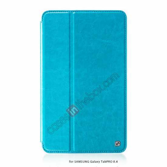 wholesale HOCO Retro Crystal Folder Leather Flip Case for Samsung Galaxy Tab Pro 8.4 T320 - Blue