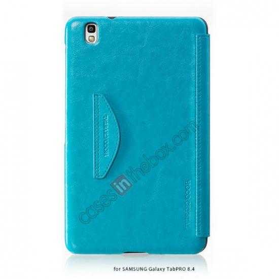 discount HOCO Retro Crystal Folder Leather Flip Case for Samsung Galaxy Tab Pro 8.4 T320 - Blue