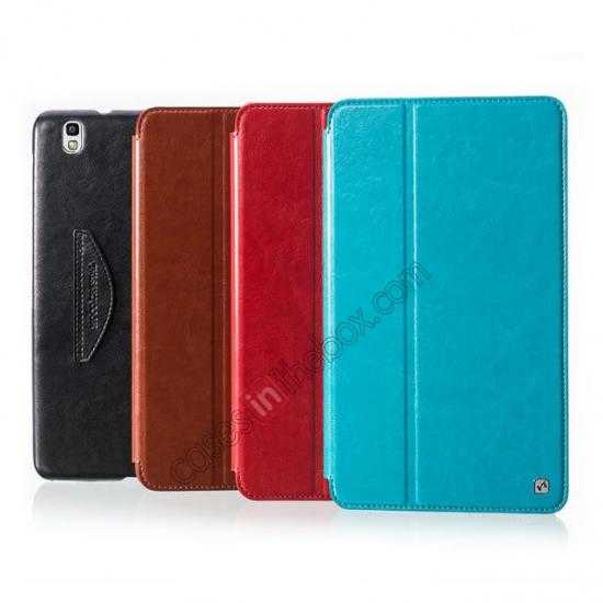 low price HOCO Retro Crystal Folder Leather Flip Case for Samsung Galaxy Tab Pro 8.4 T320 - Blue