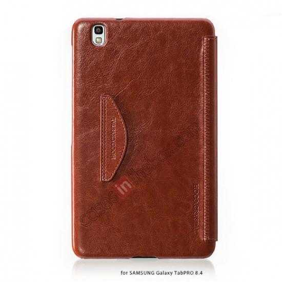 discount HOCO Retro Crystal Folder Leather Flip Case for Samsung Galaxy Tab Pro 8.4 T320 - Brown