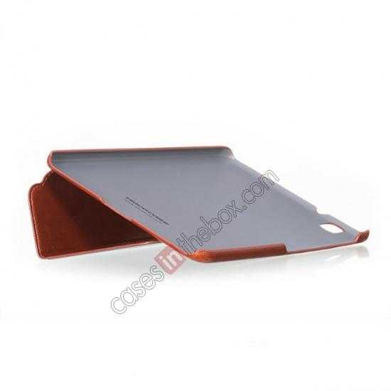 low price HOCO Retro Crystal Folder Leather Flip Case for Samsung Galaxy Tab Pro 8.4 T320 - Brown