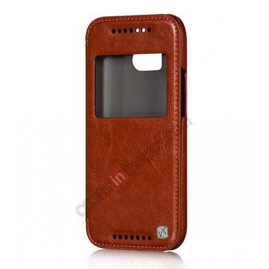 high quanlity HOCO Retro Series Luxury Leather Flip Case For HTC One M8 - Brown
