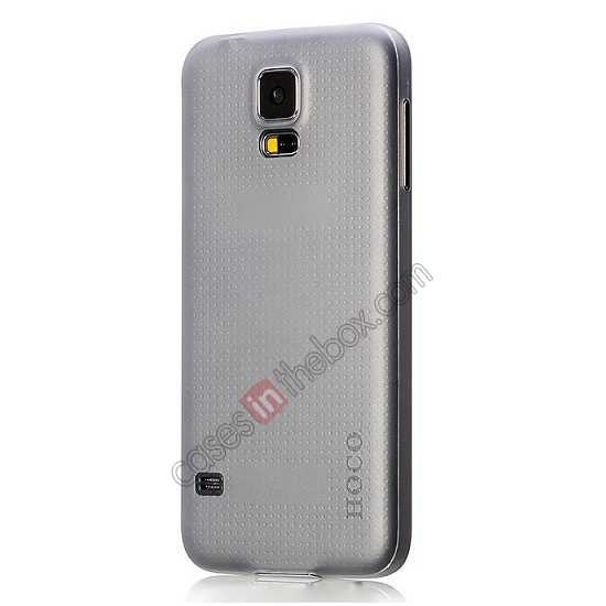 top quality HOCO Thin Series Ultra Slim Plastic Protective Case for Samsung Galaxy S5 - Grey