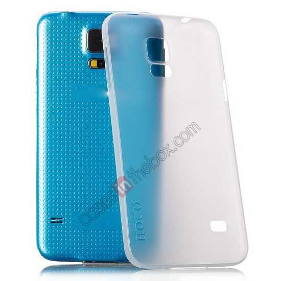 best price HOCO Thin Series Ultra Slim Plastic Protective Case for Samsung Galaxy S5 - White