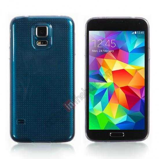 wholesale HOCO Ultra thin transparent TPU Soft Back Cover Case For Samsung Galaxy S5
