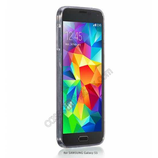 best price HOCO Ultra thin transparent TPU Soft Back Cover Case For Samsung Galaxy S5