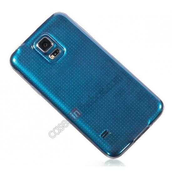 low price HOCO Ultra thin transparent TPU Soft Back Cover Case For Samsung Galaxy S5