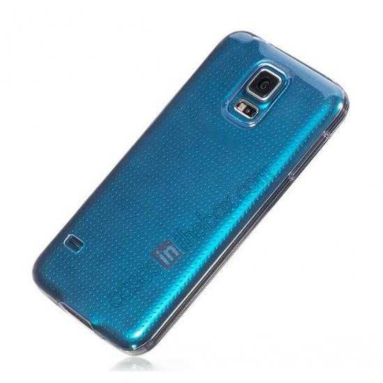 high quanlity HOCO Ultra thin transparent TPU Soft Back Cover Case For Samsung Galaxy S5