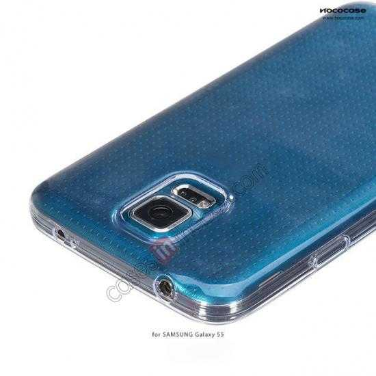 china wholesale HOCO Ultra thin transparent TPU Soft Back Cover Case For Samsung Galaxy S5