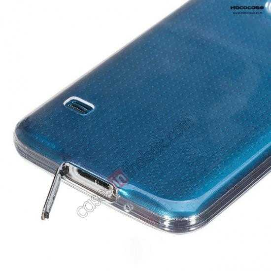 China leading wholesale HOCO Ultra thin transparent TPU Soft Back Cover Case For Samsung Galaxy S5