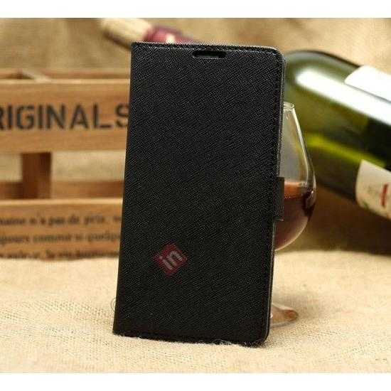 wholesale K-Cool Cross Pattern Leather Stand Flip Case For Samsung Galaxy S5 G900 - Black