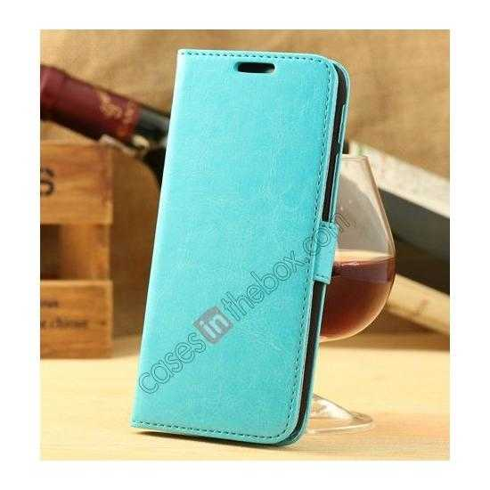 wholesale K-Cool Flip Wallet Credit Card Slots Stand Leather Case Cover For HTC ONE 2 M8 - Blue