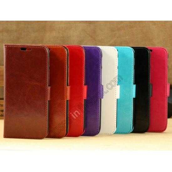 best price K-Cool Flip Wallet Credit Card Slots Stand Leather Case Cover For HTC ONE 2 M8 - Light Brown