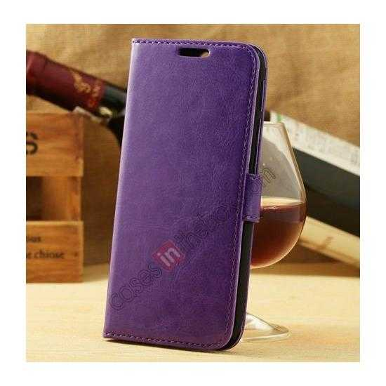 wholesale K-Cool Flip Wallet Credit Card Slots Stand Leather Case Cover For HTC ONE 2 M8 - Purple