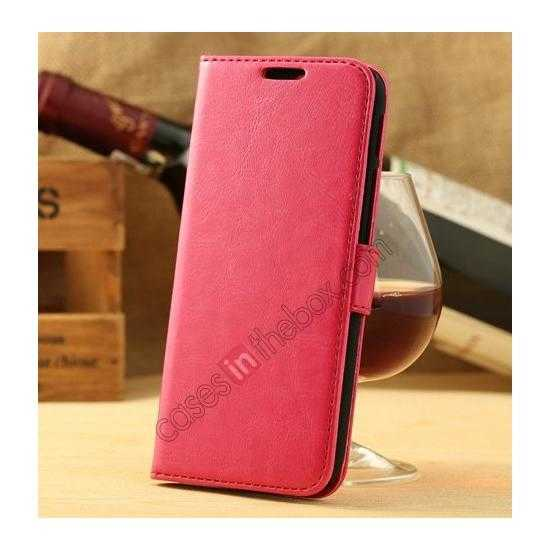 wholesale K-Cool Flip Wallet Credit Card Slots Stand Leather Case Cover For HTC ONE 2 M8 - Rose