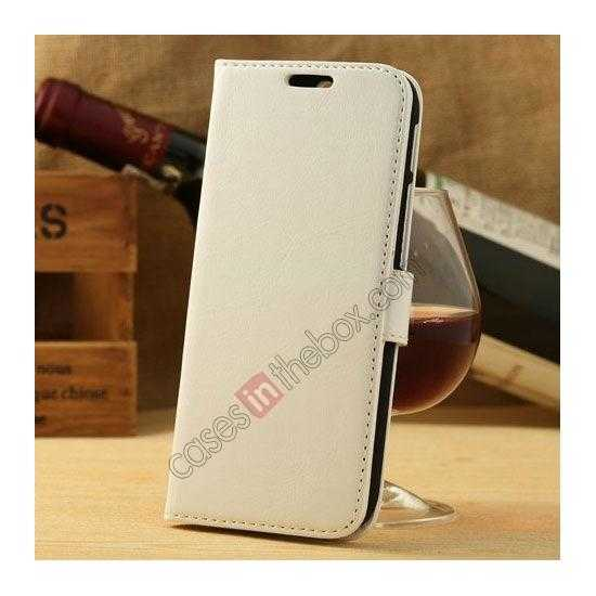 wholesale K-Cool Flip Wallet Credit Card Slots Stand Leather Case Cover For HTC ONE 2 M8 - White