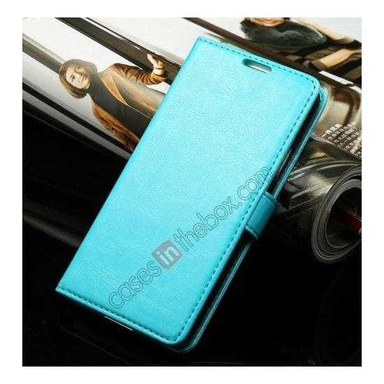discount K-Cool Sheep Skin Ultra-thin Leather Stand Case Cover for Samsung Galaxy S5 - Blue