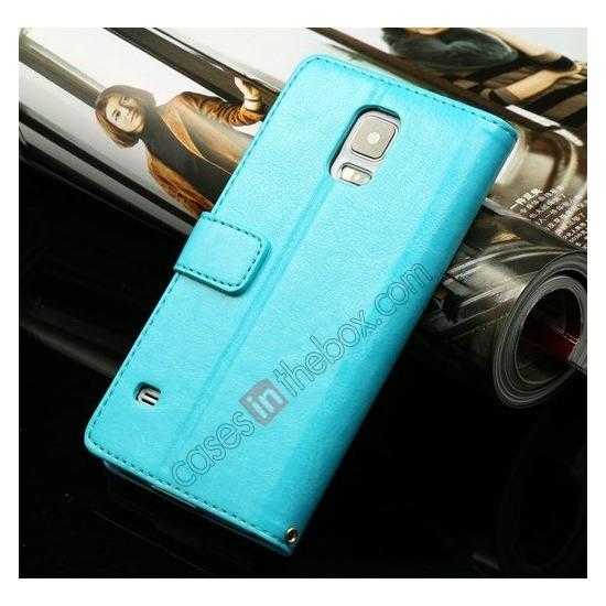 wholesale K-Cool Sheep Skin Ultra-thin Leather Stand Case Cover for Samsung Galaxy S5 - Blue