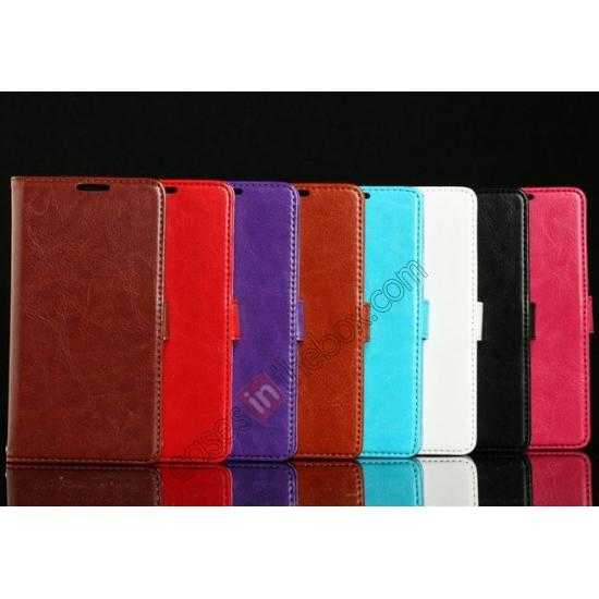 low price K-Cool Sheep Skin Ultra-thin Leather Stand Case Cover for Samsung Galaxy S5 - Brown