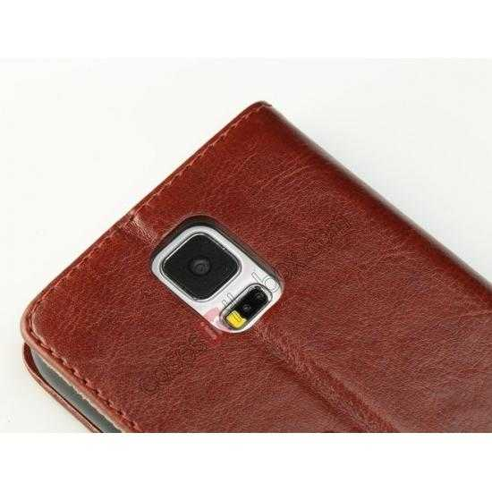 on sale K-Cool Sheep Skin Ultra-thin Leather Stand Case Cover for Samsung Galaxy S5 - Dark Brown