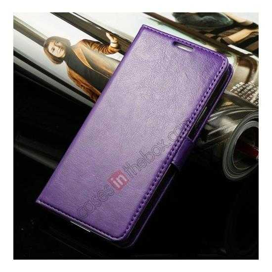 discount K-Cool Sheep Skin Ultra-thin Leather Stand Case Cover for Samsung Galaxy S5 - Purple
