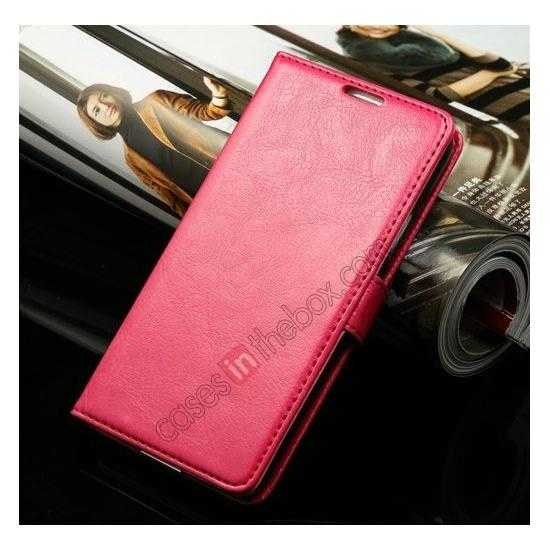 discount K-Cool Sheep Skin Ultra-thin Leather Stand Case Cover for Samsung Galaxy S5 - Rose