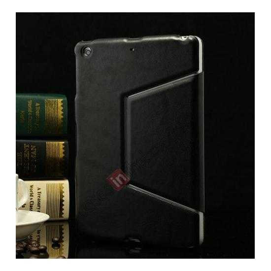 discount K-cool Ultra Thin Slim Leather Stand Case for iPad Mini 2 Retina - Black