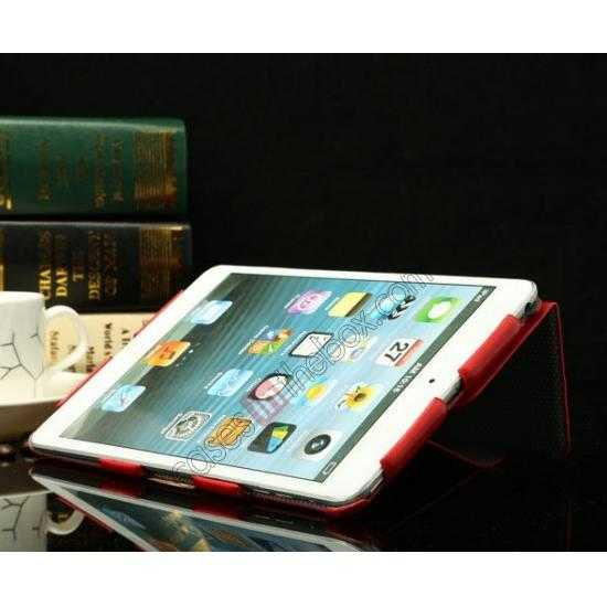 top quality K-cool Ultra Thin Slim Leather Stand Case for iPad Mini 2 Retina - Black