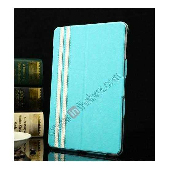 wholesale K-cool Ultra Thin Slim Leather Stand Case for iPad Mini 2 Retina - Blue