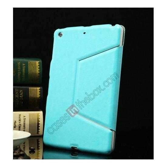 discount K-cool Ultra Thin Slim Leather Stand Case for iPad Mini 2 Retina - Blue