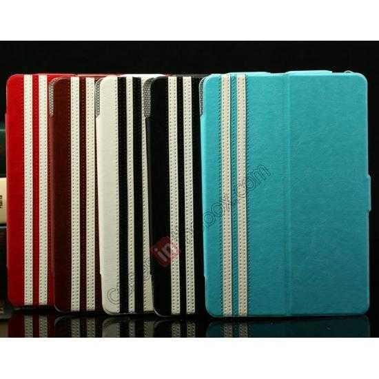 low price K-cool Ultra Thin Slim Leather Stand Case for iPad Mini 2 Retina - Blue