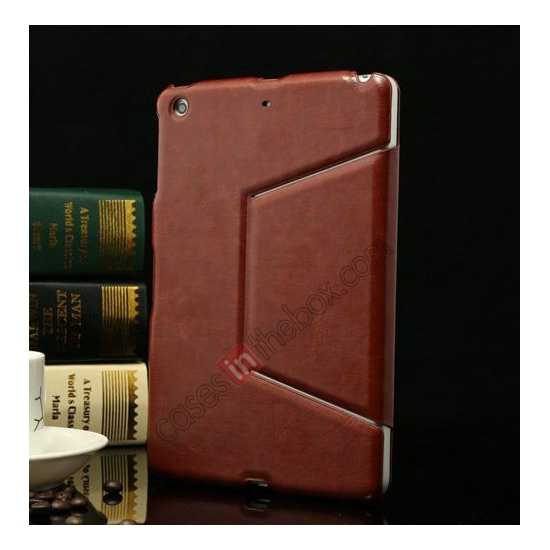 discount K-cool Ultra Thin Slim Leather Stand Case for iPad Mini 2 Retina - Brown
