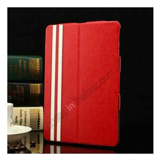 wholesale K-cool Ultra Thin Slim Leather Stand Case for iPad Mini 2 Retina - Red