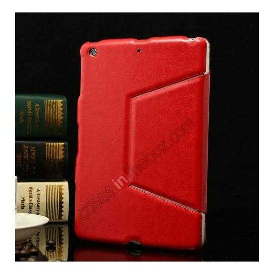 discount K-cool Ultra Thin Slim Leather Stand Case for iPad Mini 2 Retina - Red