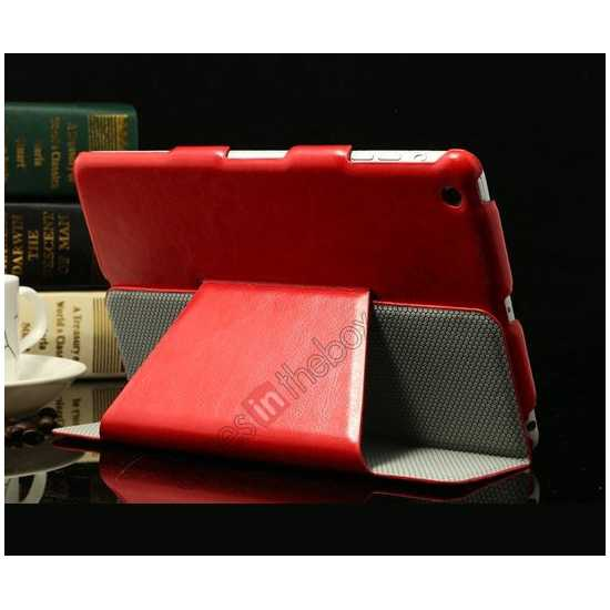 cheap K-cool Ultra Thin Slim Leather Stand Case for iPad Mini 2 Retina - Red