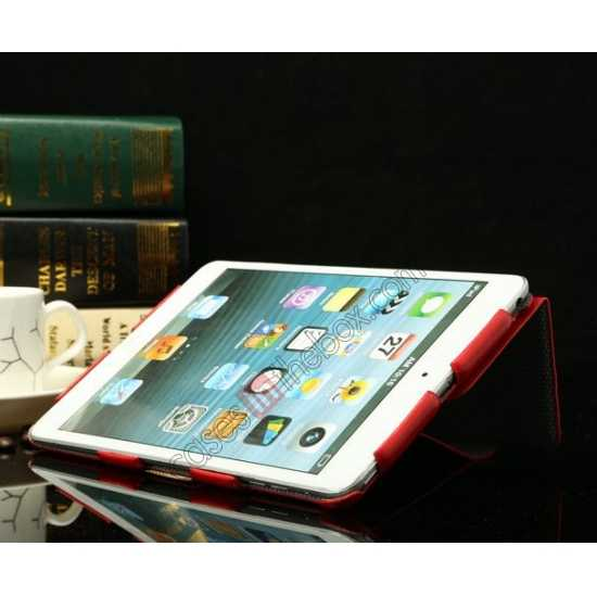 top quality K-cool Ultra Thin Slim Leather Stand Case for iPad Mini 2 Retina - Red