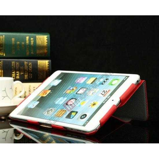 best price K-cool Ultra Thin Slim Leather Stand Case for iPad Mini 2 Retina - Red